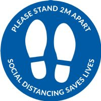 Social distancing Floor sticker Template 3